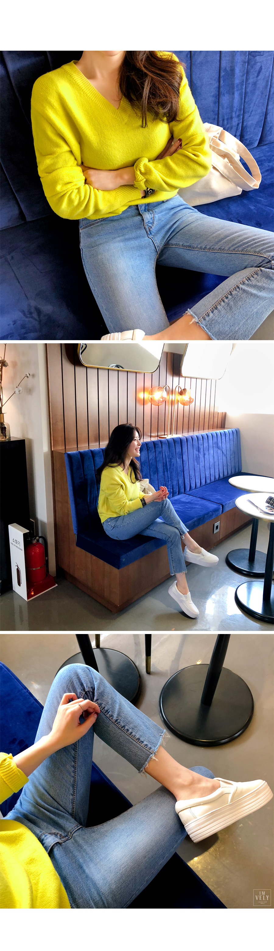 180117 kmjlime 02 - 韓国通販サイト「イムブリー」で注文した綺麗色ニットの口コミ