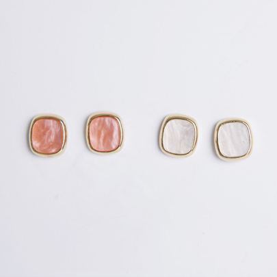 Candy Square Stud Earrings