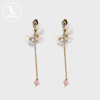 [V,Collect] Keshi Drop Earring
