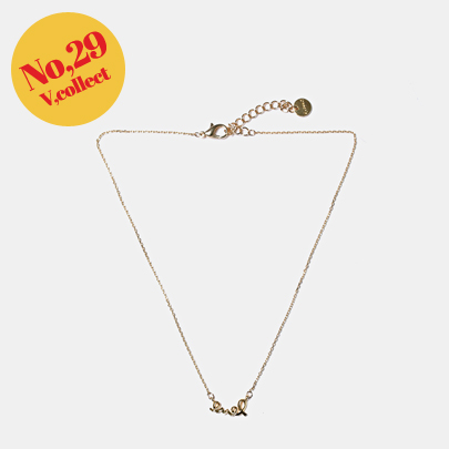 [V,Collect] No,29 LOVE Gold-Plated Necklace