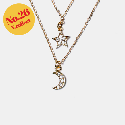 [V,Collect] No,26 Moon Star Necklace