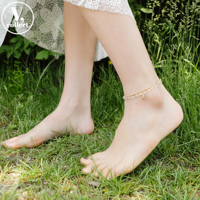 [V,Collect] Ball Accent Chain Anklet