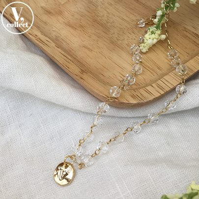 [V,Collect] Disc Pendant Beaded Anklet