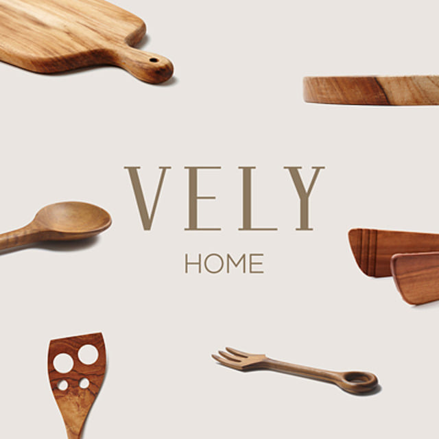 [VELYHOME] Round Wooden Cutlery Board