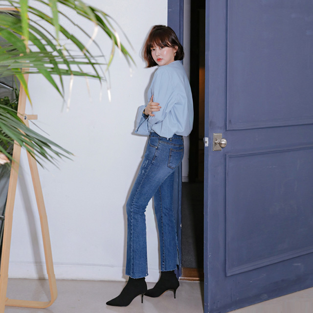 [THX,V] NO.802 BACKSLASH BOOTS DENIM