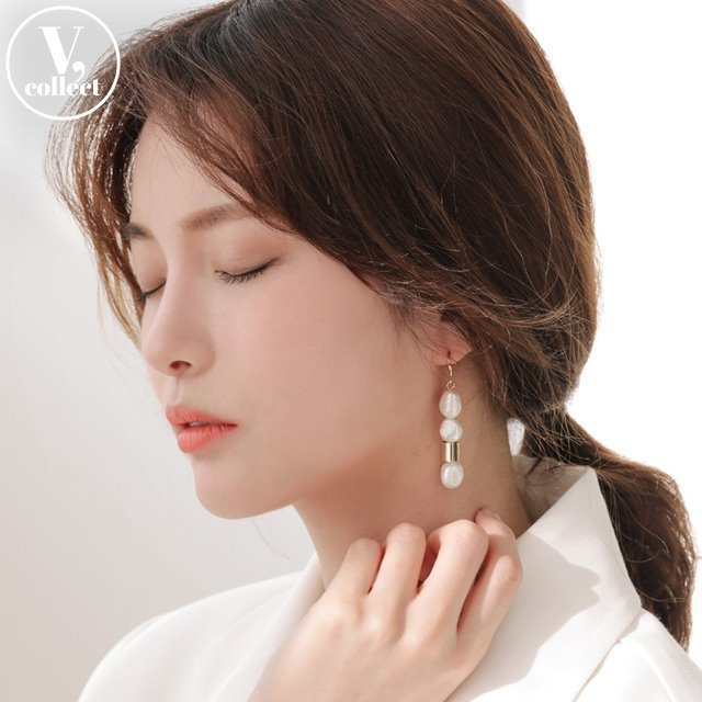 [V,Collect] Pearl Hook Earrings
