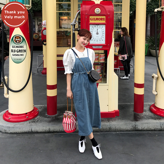 [THX,V] CUTIE OVERALLS DRESS