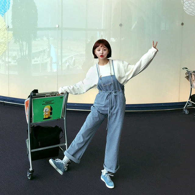 [THX,V] FARMER OVERALLS PANTS