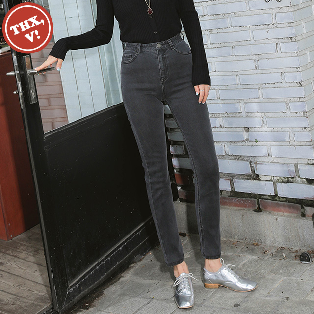 [THX,V] NO.706 AURORA GREY SEMI-SKINNY
