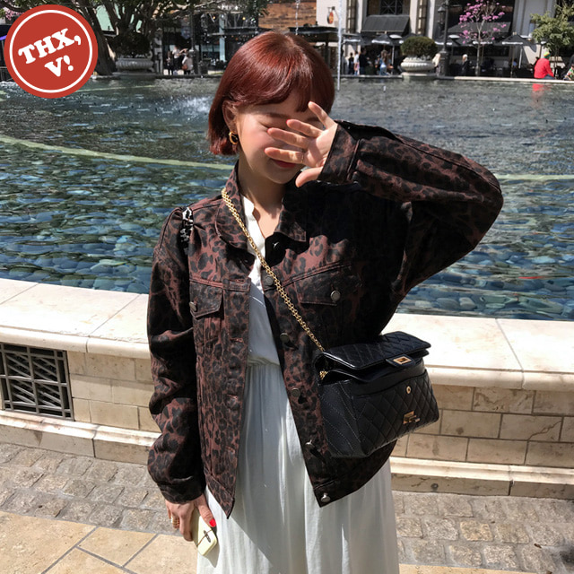 [THX,V] NO.606 LEOPARD DENIM JACKET