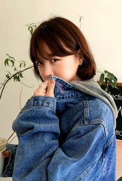 [THX,V] NO.603 PINK LETTERING DENIM JACKET